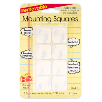 Removable Mounting Squares - 8 count (7/8 x 7/8)
