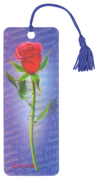 Red Rose 3D Bookmark
