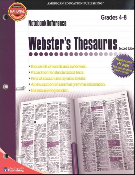 Webster's Thesaurus Notebook Reference 2ED