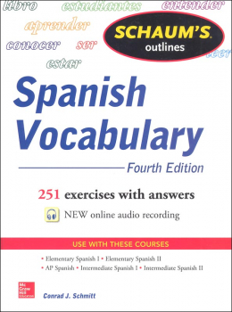 Schaum's Guide to Spanish Vocabulary (4th Ed.