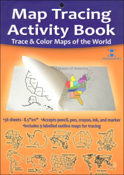 Map Tracing Activity Book