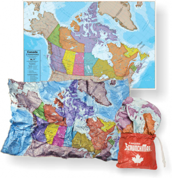 "Canada Scrunch Map (24"" x 36"")"