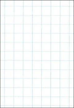 "Ruled Cross Section Drawing Paper - White 1"" Ruled, Approximately 100 Sheets"