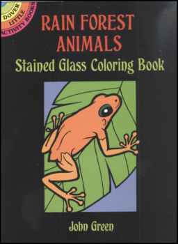 Rain Forest Animals Little Stained Glass Coloring Book