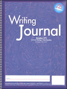 "Writing Journal Z/B Purple Gr. 3-4, 3/8"" rule"