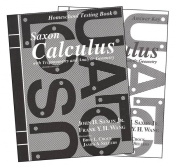 Saxon Calculus 2ED Answer Keys and Tests