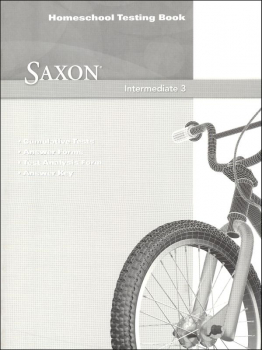 Saxon Math Intermediate 3 Homeschool Test Bk