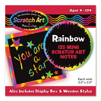 "Scratch Art Mini Notes - 125 3.75"" x 3.75"" sheets"