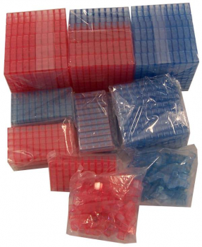 ClearView Base Ten Blocks - Group Set