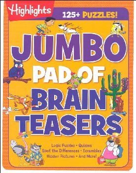 Jumbo Pad of Brain Teasers (Highlights Puzzles)