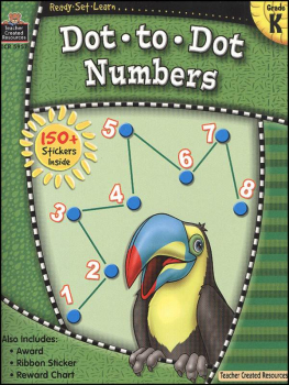 Dot to Dot Numbers (Ready, Set, Learn)