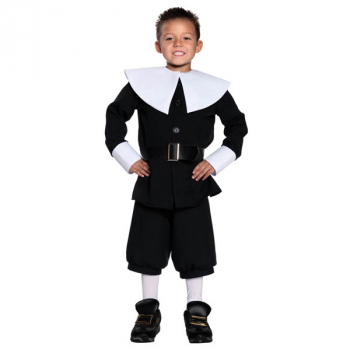 Pilgrim Boy Costume - Medium