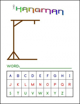 Hangman Game (4 x 6 Laminated Write and Wipe Game Board)