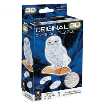 3D Crystal Puzzle - Owl (White)