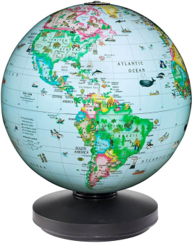 "Rotating Illuminated Globe (10"")"