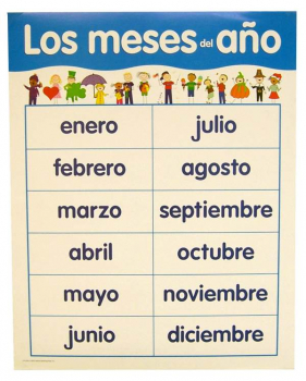 Spanish Basic Skills Chart - Months of the Year