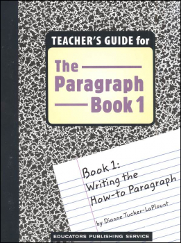 Paragraph Book 1: How To Teacher's Guide