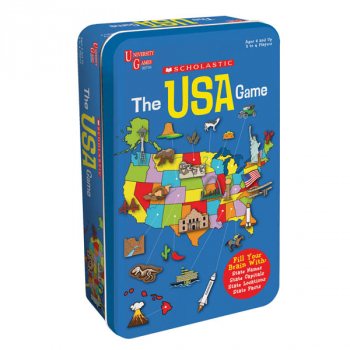 Scholastic USA Game Tin