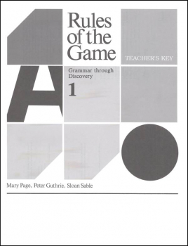 Rules of the Game Book 1 Teacher's Key