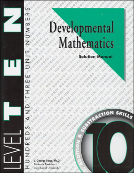 Developmental Math Level 10 Solution Manual