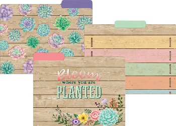 Rustic Bloom File Folders Pack of 12