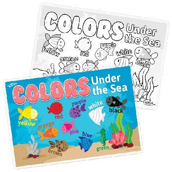 Colors Under the Sea Remarkable Activity Mat