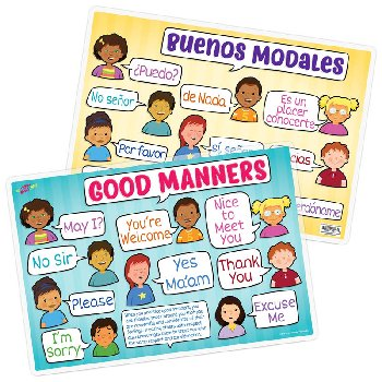 Good Manners Remarkable Activity Mat English and Spanish