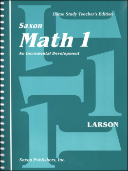 Saxon Math 1 Teacher Edition