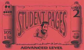 Advanced Student Pages for Lessons 105-130