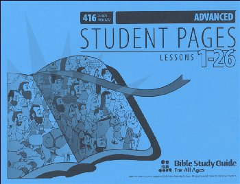 Advanced Student Pages for Lessons 001-26