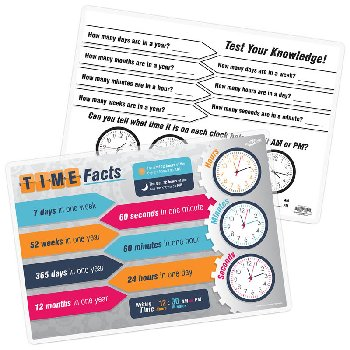 Time Facts Remarkable Activity Mat