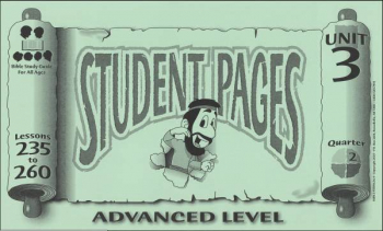 Advanced Student Pages for Lessons 235-260