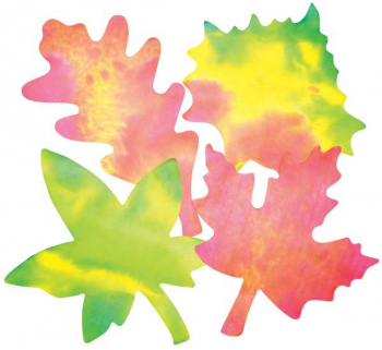 "Color Diffusing Paper Leaves 9"" x 7"" - Pack of 80"