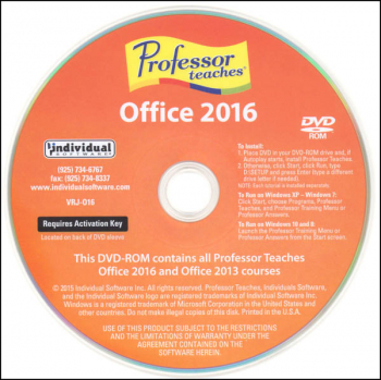 Professor Teaches Office 2016 (Mini)