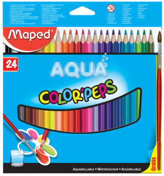 Color Pep's Water Coloured Pencils (Pack of 24)