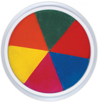 Jumbo Circular Washable Pad - 6 in 1 Rainbow (Ready 2 Learn Stamp Pad)