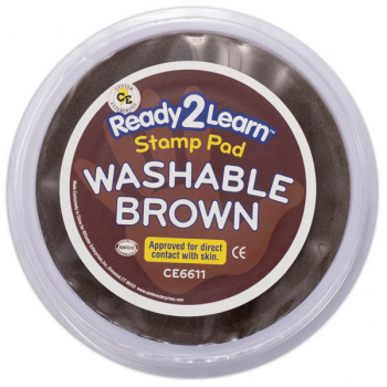 Jumbo Circular Washable Pad - Brown (Ready 2 Learn Stamp Pad)