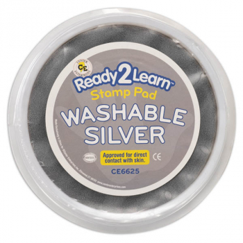 Jumbo Circular Washable Pad - Silver (Ready 2 Learn Stamp Pad)