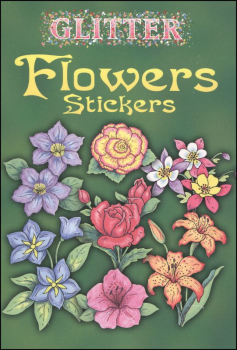 Glitter Flowers Stickers