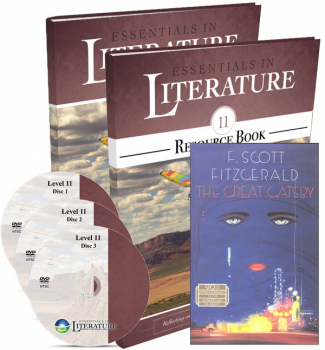 Essentials in Literature Level 11 Combo (DVD, Student Text/Workbook, Parent/Teacher Handbook and Novel)