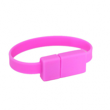 USB Flash Drive Wristband (Bubblegum) - Small