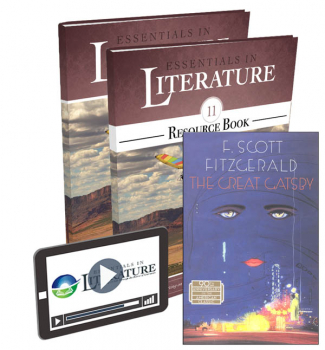 Essentials in Literature Level 11 Bundle (Textbook, Resource Book, Novel, and Online Video Subscription)