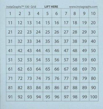 "InstaGraphs Hundred Number Grid with Numbers (3"" x 3"" Pad)"