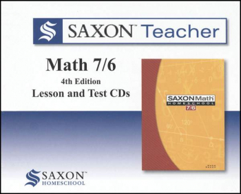 Saxon Teacher for Math 7/6 (4th Edition) CD-ROM Set