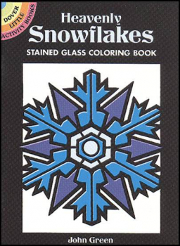 Heavenly Snowflakes Little Stained Glass Coloring Book