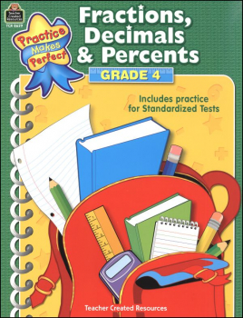 Fractions, Decimals & Percents Grade 4 (Practice Makes Perfect)