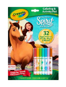 Crayola Coloring & Activity Pad with Markers - Spirit