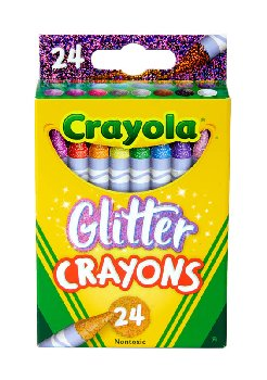 Crayola Glitter Crayons 24 Count Box