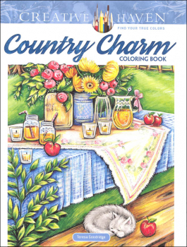 Country Charm Coloring Book (Creative Haven)