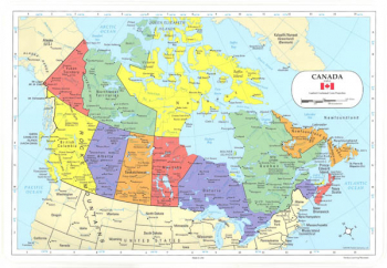 Canada Map Placemat